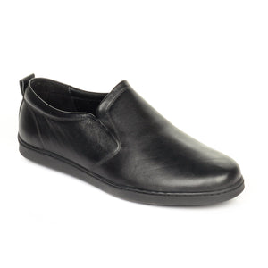 Classic Formal Black Leather Slip-on - Shoe Slip-on - Pavers England