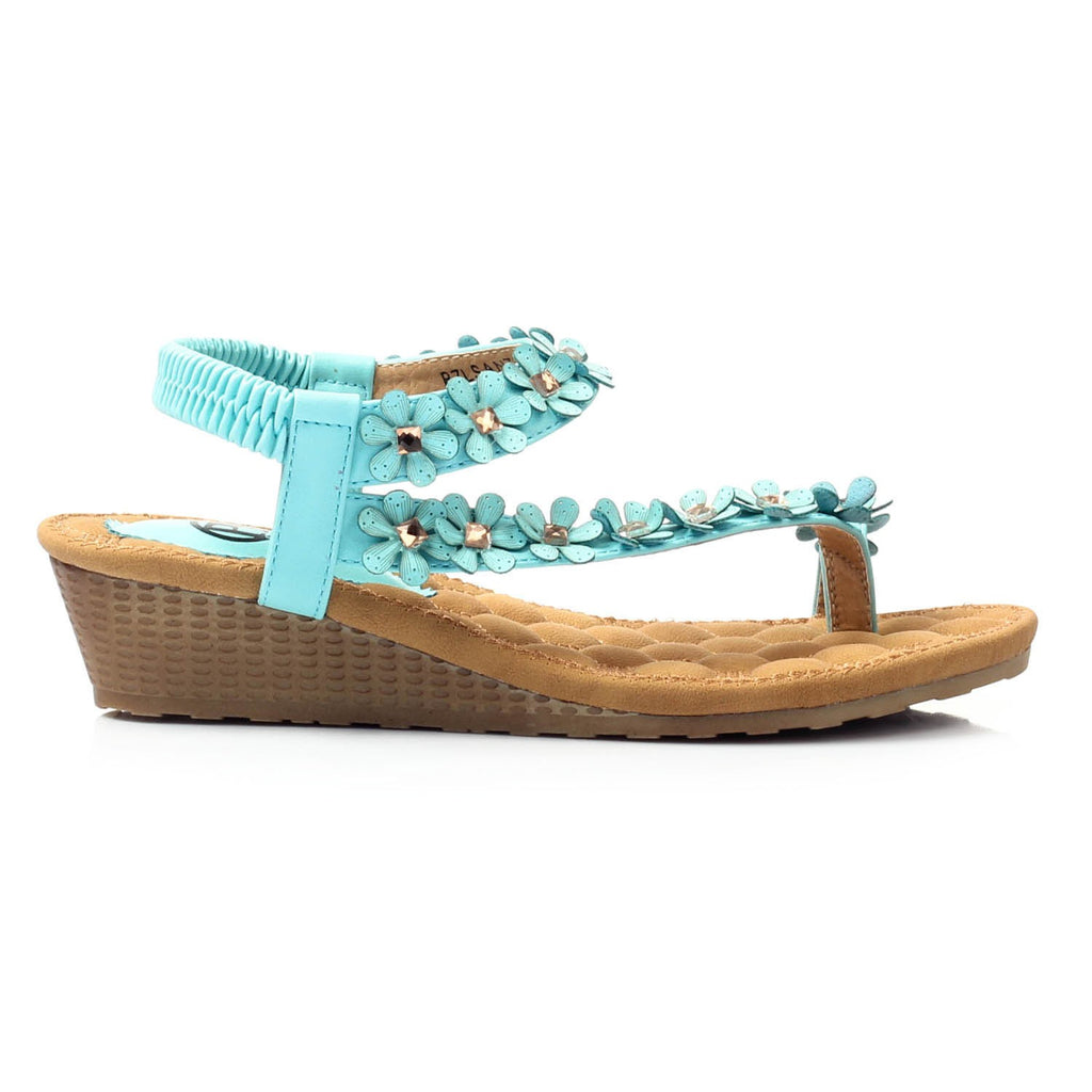 Wedge Sandals for Women-Aqua - Sandals - Pavers England