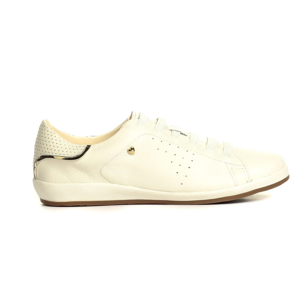 Leather Lace-Ups for Women-White - Sneakers - Pavers England