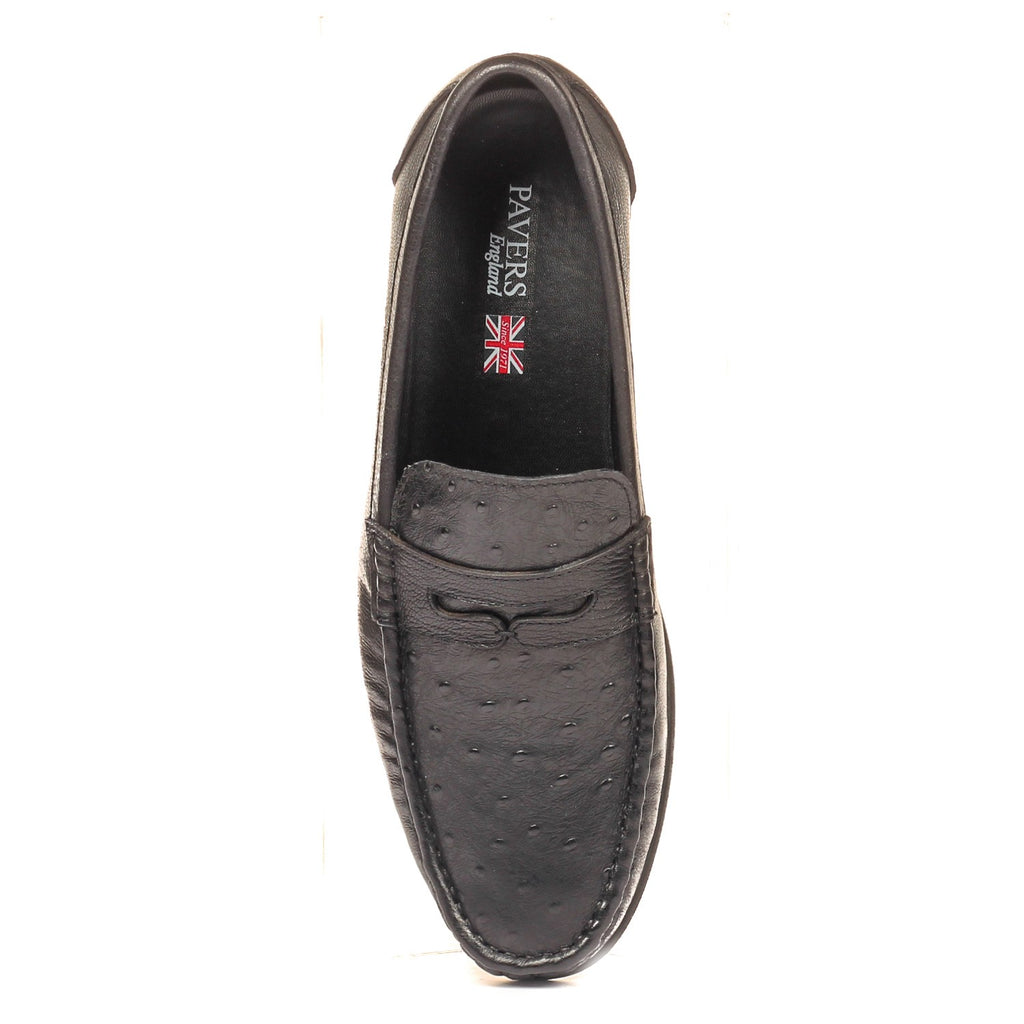 Trendy Textured Leather Loafers - Slip ons - Pavers England