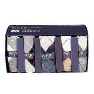 Premium Men's Patterned Socks (Pack of 5) - Socks - Pavers England