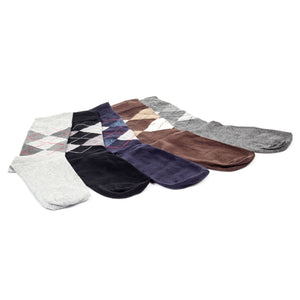 Premium Men's Patterned Socks (Pack of 5) - Bags & Accessories - Pavers England