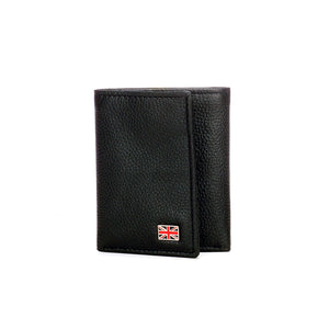 Compact Leather Wallet for Casual Wear - Black - Bags & Accessories - Pavers England