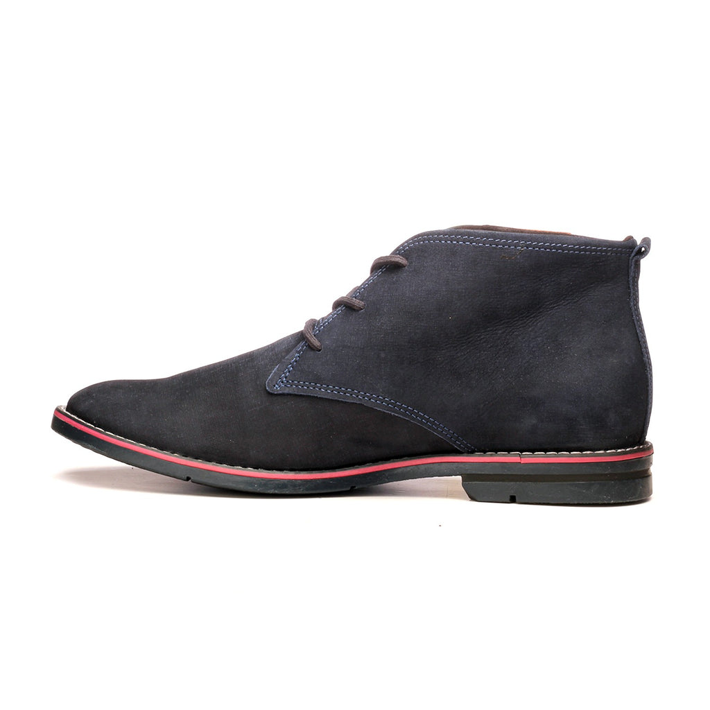 Men's Ankle Boot - Navy - Boots - Pavers England