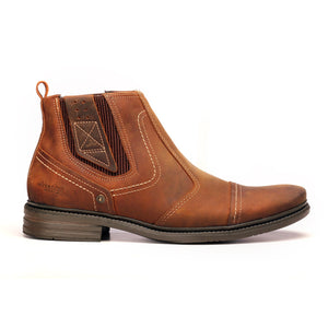Men's Ankle Boot - Camel - Boots - Pavers England