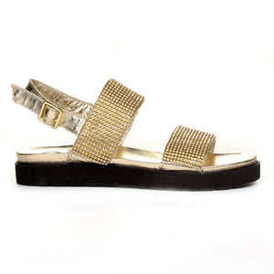 Women's Sandal - Gold - Wedding & Occasion - Pavers England