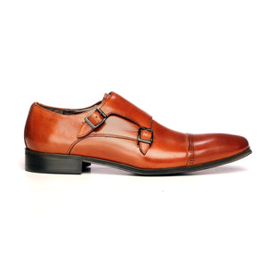 Men's Monk Shoe - Tan - Formal Loafers - Pavers England