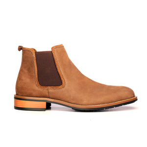 Plain-Toe Chelsea Boots for Men-Brown - Ankleboots - Pavers England