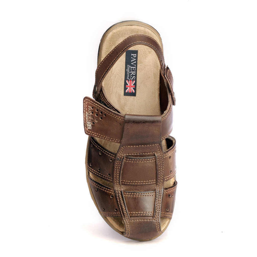 Men's Sandal - Brown - Sandals - Pavers England