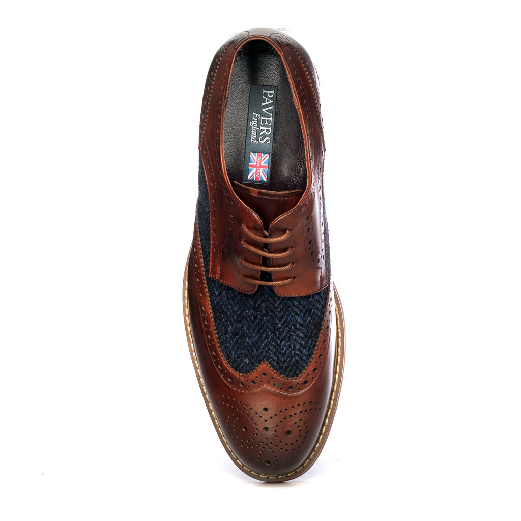 Men's Brogue Shoe - Laceup - Pavers England