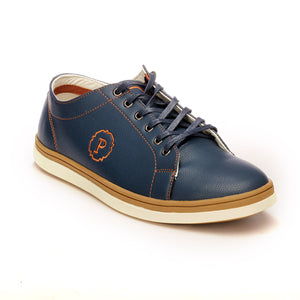 Men's Lace-up Shoe - Navy - Sneakers - Pavers England