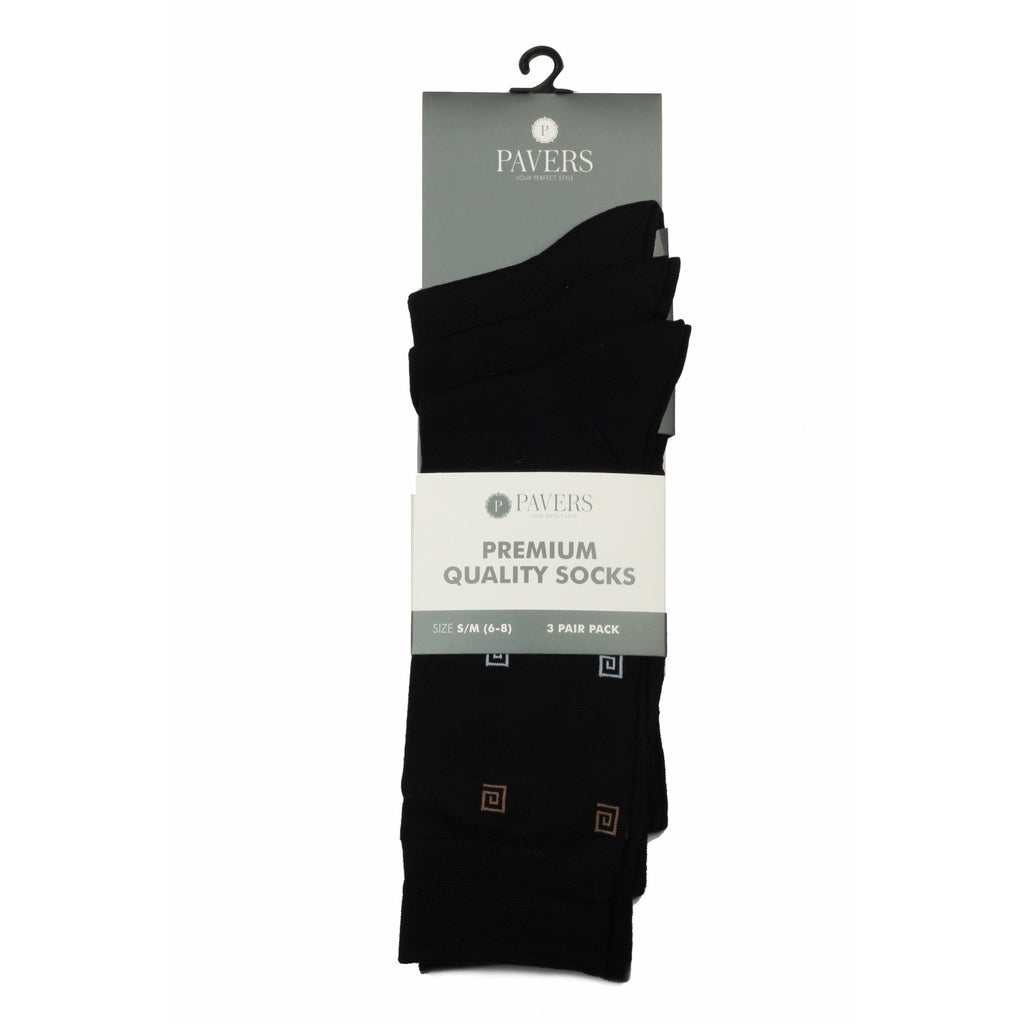 Men's Socks Black with Pattern - Bags & Accessories - Pavers England