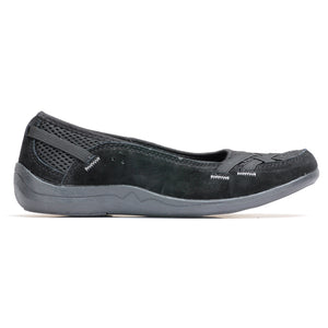 Suede Loafers for Women - Black - Full Shoes - Pavers England