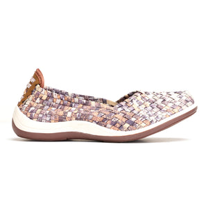 Elastic Slip-on Closure for Women - Taupe - Full Shoes - Pavers England