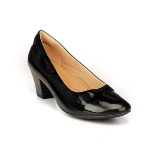 Women's Full Shoe - Black - Heels - Pavers England