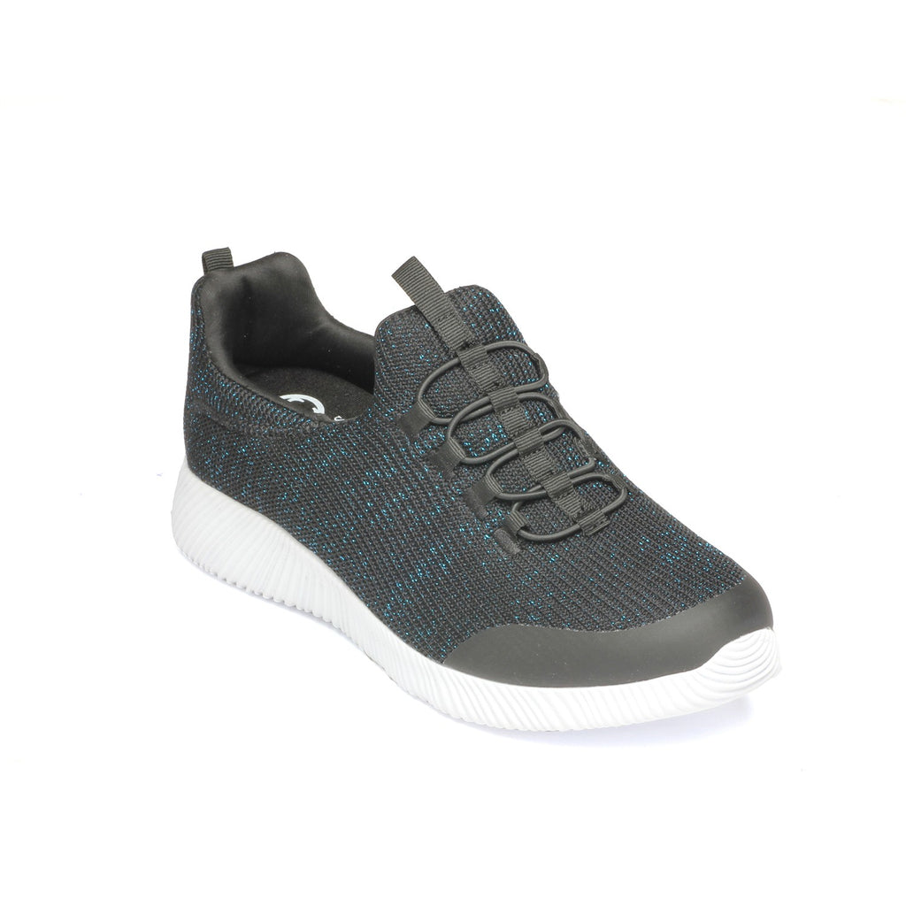 Fabric Sport Shoe for Women - Black - Sneakers - Pavers England