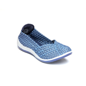 Elastic Slip-on Closure for Women - Blue - Full Shoes - Pavers England
