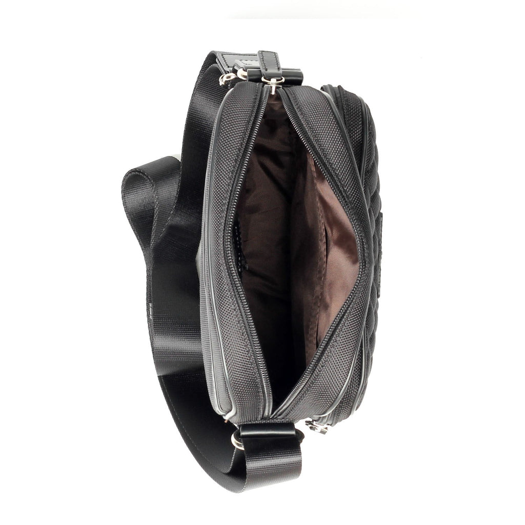 Modish Black Leather Sling Bag For Men - Black - Bags & Accessories - Pavers England