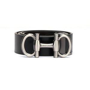 Men's Black Leather Belt - Belts - Pavers England