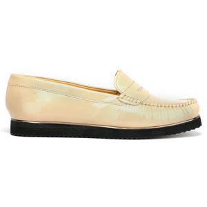 Formal and Stylish Leather Shoes for Women - Beige - Full Shoes - Pavers England