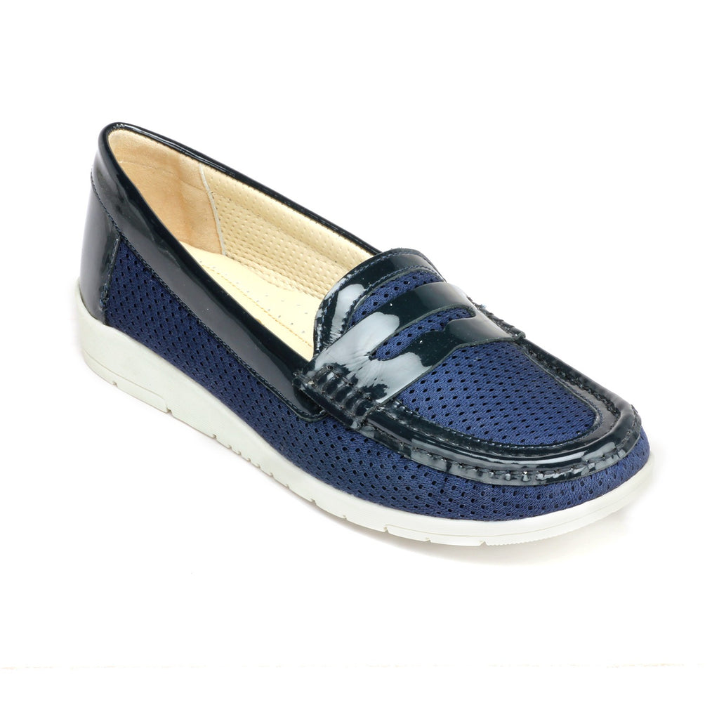 Women's Shoe - Navy - Full Shoes - Pavers England
