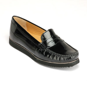 Formal and Stylish Leather Shoes for Women - Black - Full Shoes - Pavers England