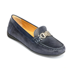 Textured Leather Loafers for Women - Full Shoes - Pavers England