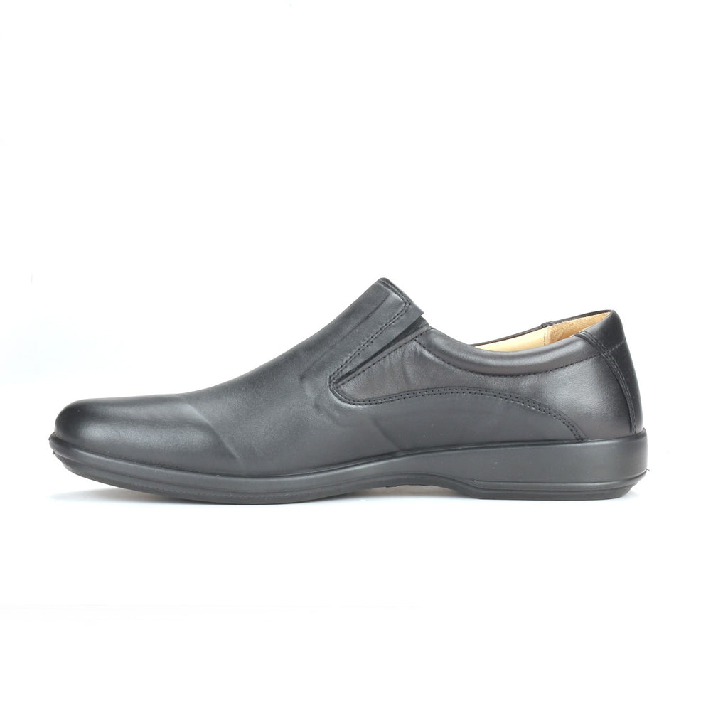 Mens Leather Slip-on Shoes-Black - Slip ons - Pavers England