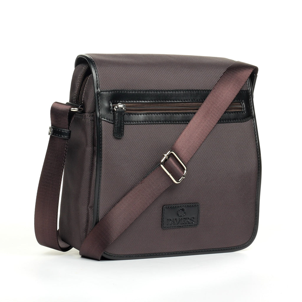 Brown/Navy Trendy Casual/Formal Sling Bag For Men - Mens - Pavers England