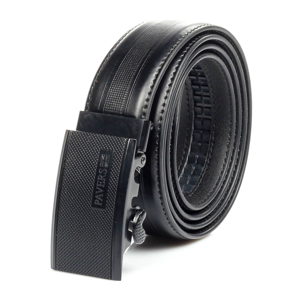 Men's Formal Leather Belt - Black - Bags & Accessories - Pavers England