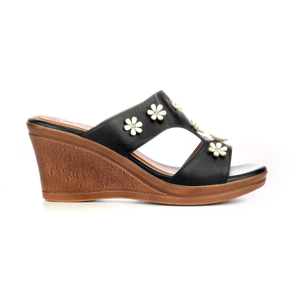 Jewel Embellished Mule Wedges for Women - Mule - Pavers England