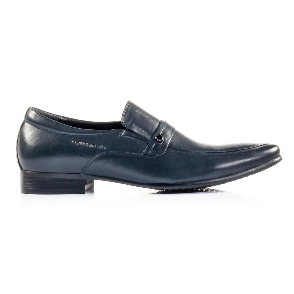 Men's Slip-on Shoe - Navy - Formal Loafers - Pavers England