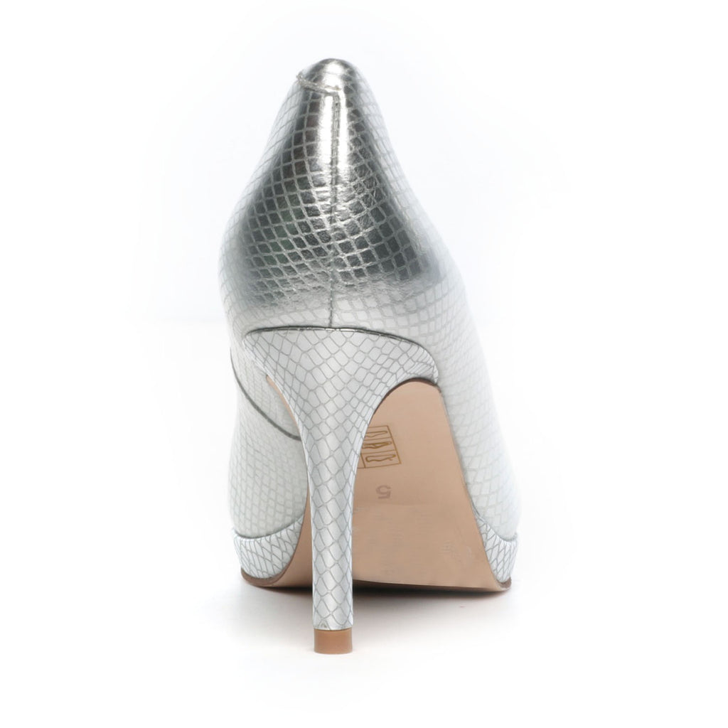 Women's Full Shoe - Silver - Heels - Pavers England