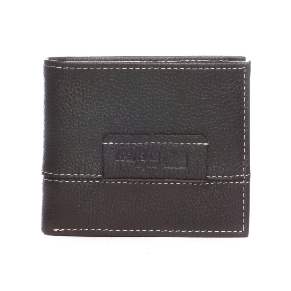 Black Leather Wallet with Stitch Detail - Wallets - Pavers England