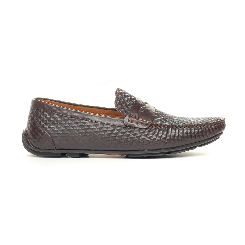 Men's Shoe-Brown - Slip ons - Pavers England