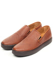 Men's Slip-on Shoe -  Brown - Comfort Fits - Pavers England