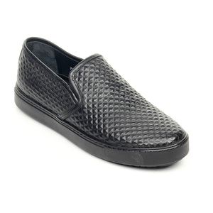 Men's Slip-on Shoe -  Black - Comfort Fits - Pavers England