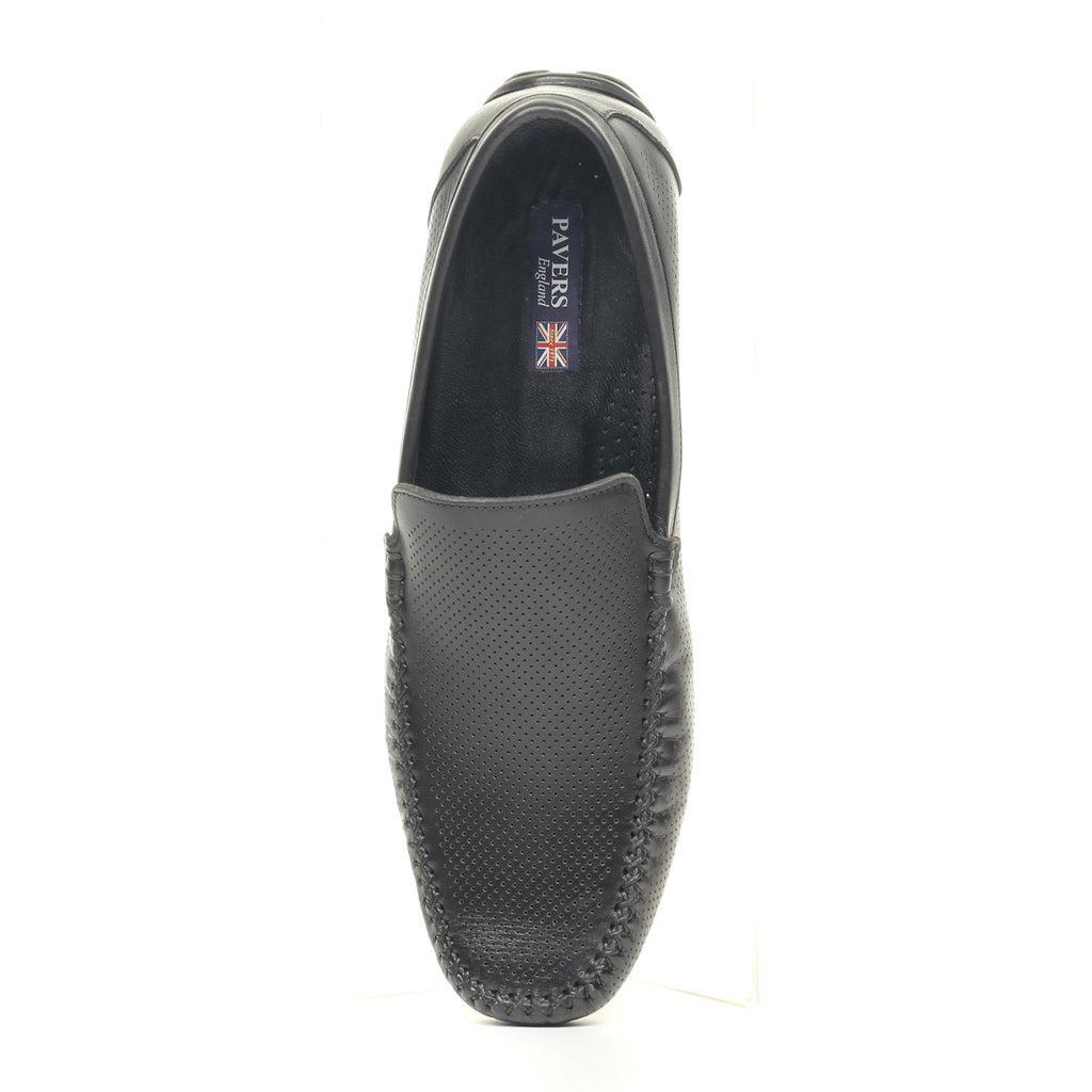 Smart Leather Loafers for Men - Black - Moccasins - Pavers England