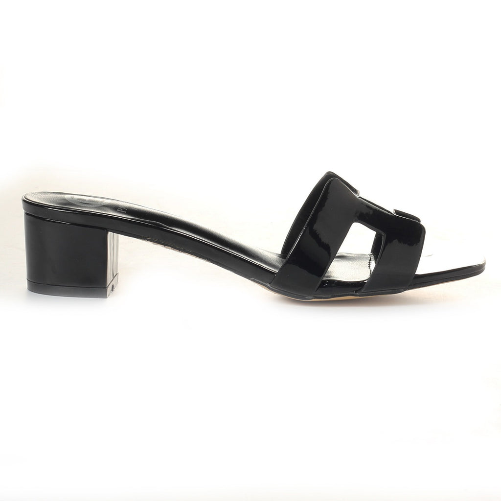 Women's Mule - Black - Open Mules - Pavers England