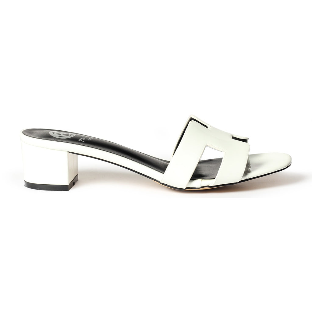 Women's Mule - White - Open Mules - Pavers England