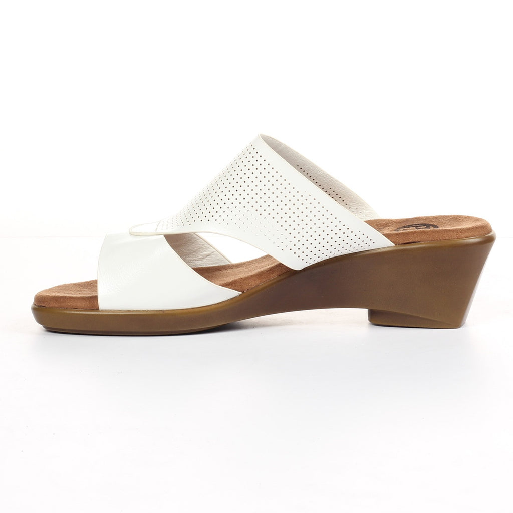 Women's Sandals - White - Open Mules - Pavers England