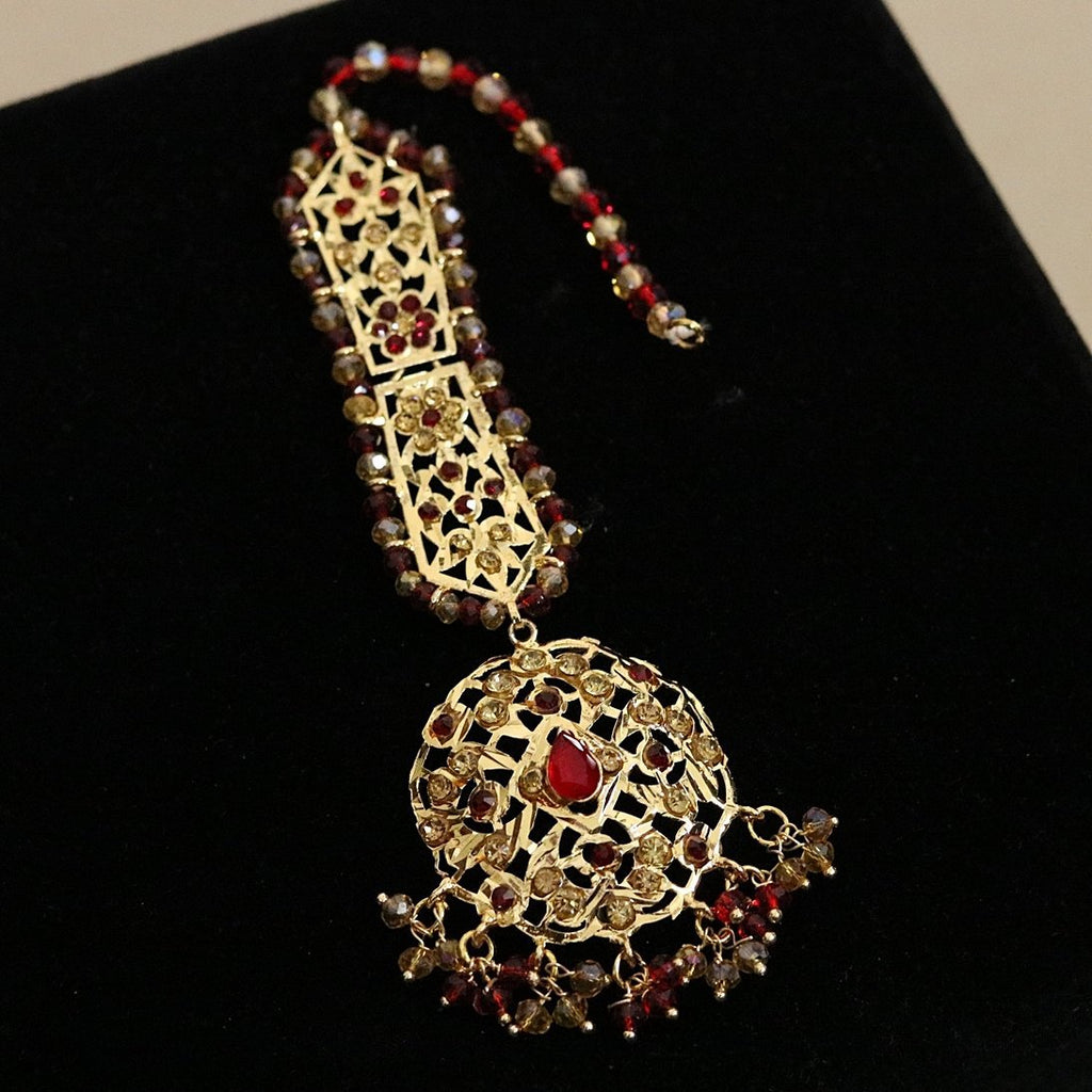 AS001 Hyderabadi Gold Plated Teeka/Bindiya - RS ZEVARS