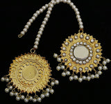 AS2002 Golden Based Kundan Teeka