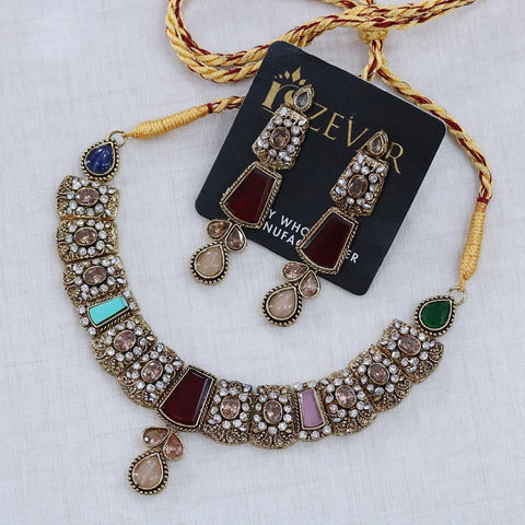 N2081 Egyptian Stones Necklace Set - RS ZEVARS