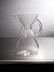 Large Machine Made Glass Handle Coffee Brewer