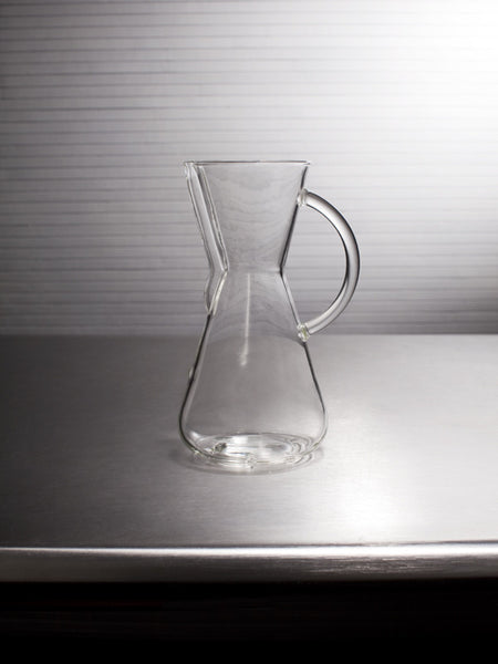 Small Machine Made Glass Handle Coffee Brewer