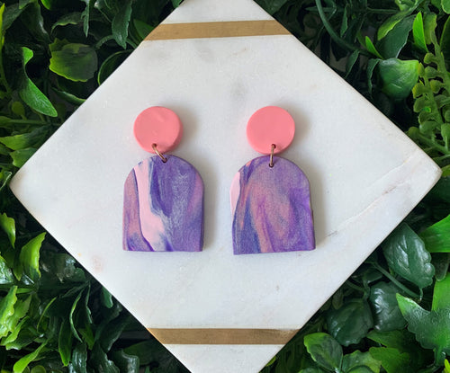 Lavender Sky Arches Drop Earrings