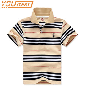 dda2bb96 2-11Yrs Boy Short Shirt Tops 2019 Fashion Summer Kids Cotton Shirts High  Quality Stripe Boys Shirts Clothes Children Clothing