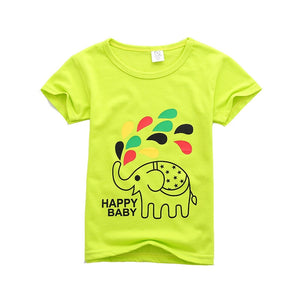 60756e987121 Boys Summer Pure T Shirt Kid Child Short Sleeve Clothes T-shirts Baby Girl  Children T Shirts Solid Color Toddler Boy Shirts