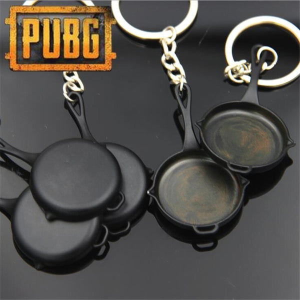 958ae8def5 Game PUBG Frying Pan Playerunknown's Battlegrounds Cosplay Props Alloy  Armor Model Key Chain Keychain